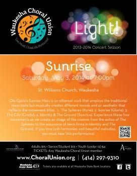 Sunrise Concert Poster
