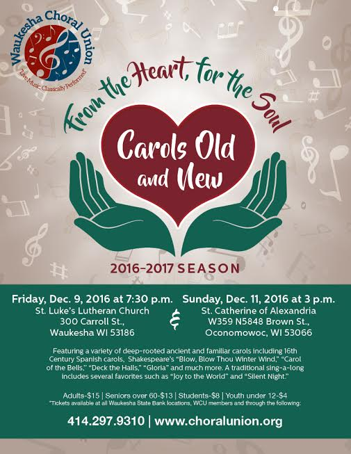 Carols Old & New Poster 2016